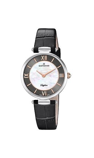 Candino Reloj Análogo clásico para Mujer de Cuarzo con Correa en Cuero C4669/2: Amazon.es: Relojes