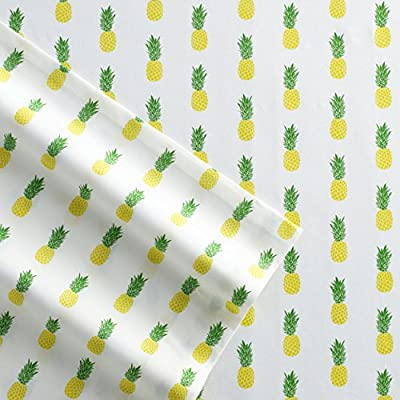 Poppy & Fritz Pineapples Cotton Sheet Set, Twin, Yellow/Green - Sheets are T200, 100Percent Cotton percale Set includes flat sheet, fitted sheet and 1 pillowcase Fitted sheet has elastic on all sides for better fit - sheet-sets, bedroom-sheets-comforters, bedroom - 51 RzwoDKTL. SS400  -