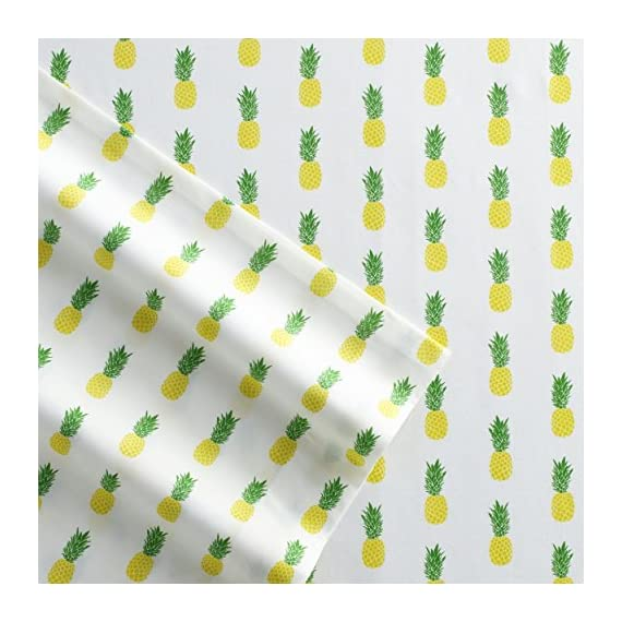 Poppy & Fritz 220843 Pineapples Cotton Sheet Set,Yellow/Green,Twin - Sheets are T200, 100Percent Cotton percale Set includes flat sheet, fitted sheet and 1 pillowcase Fitted sheet has elastic on all sides for better fit - sheet-sets, bedroom-sheets-comforters, bedroom - 51 RzwoDKTL. SS570  -