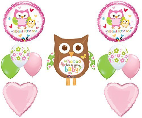 Owl Who Loves You Baby Shower Balloon Decoration