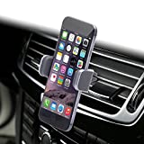 Dash Crab MONO, Genuine Leather Cell Phone Car Mount, Luxury Premium Air Vent Car Mount Holder Cradle for iPhone 7 8 Plus X 6 6s Samsung Galaxy S7 S6 Edge Note 5, Universal Grip, Retail Pack (Grey)