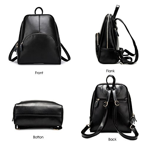 Purse for Women's White ELOMBR Backpack Girls Bag Casual Leather Bag Pu School Shoulder Ladies U4xqcZERx
