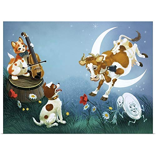 GREATBIGCANVAS Poster Print Entitled Hey Diddle Diddle by English School 24