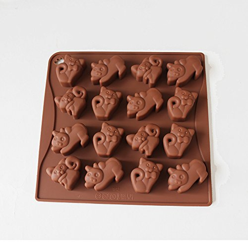 X-Haibei Cute Cat Kittens Lemurs Chocolate Candy Soap Jello Silicone Mold Baby Shower Favor
