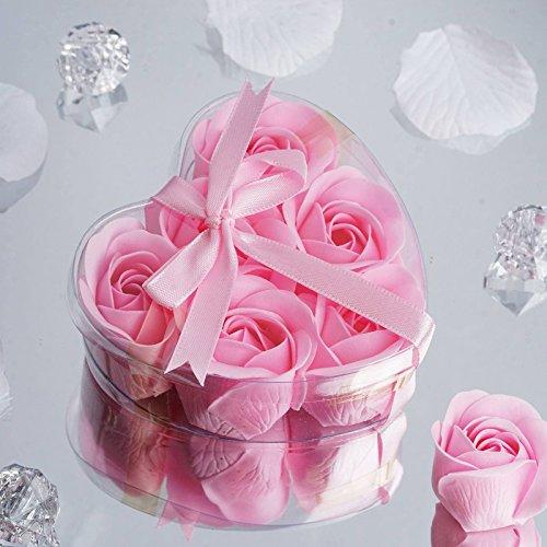 Wedding Soap Favors Heart - Efavormart Heart Rose Soap Petals-22 Color Available-Lot of 50| Color| Pink