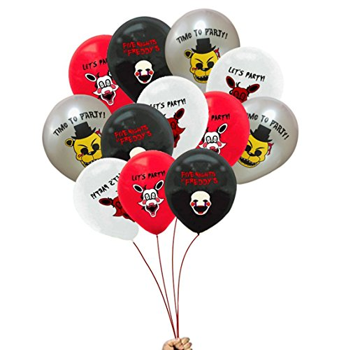 fat cat sales FNAF Balloons Black, White, Silver, RED, Assortment -
