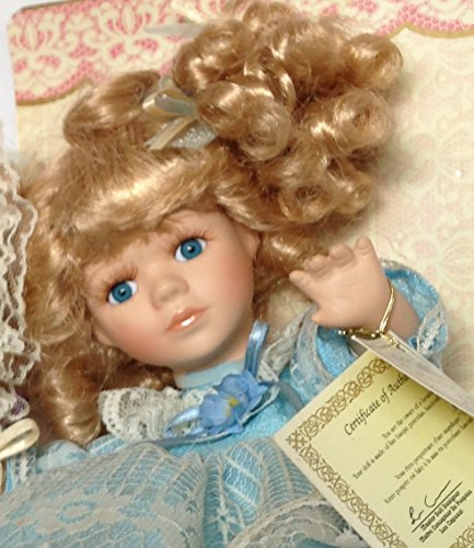 Porcelain Doll Fine Bisque Flower Basket Special Edition, used for sale  Delivered anywhere in USA