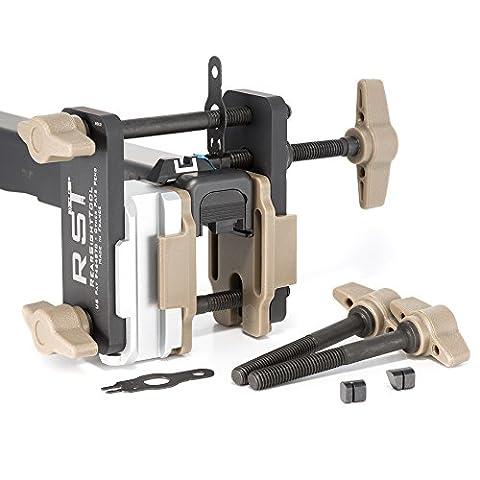 Gen 3 (Mk III) Universal Field Sight Pusher (Glock 42/43 tool set) - 2 in 1: Front & rear sight installations + Compact range adjustment tool from RST - Adjustment Block