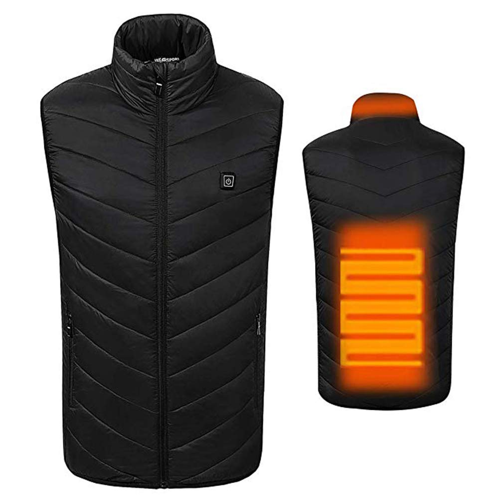 AUTRUN Weich beheizte Vest Light Waterproof Windproof Travel Outdoor Sports Ski Equipment (Unisex Style, Men & 039; s)