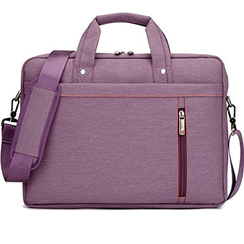 Humok 13 14 15-15.6 Inch Fashion Durable Waterproof Computer Laptop/Notebook/Tablets/MacBook Messenger Shoulder Bag Carry Case Briefcase (15.6 inches, Purple)