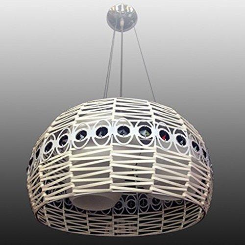 BGTJZY Modern LED Pendant Chandelier Ceiling Lighting Fixture for Living Room Bedroom Dining Room HWoven rattan LEDPendant Light Diameter 400 Pendant Lights
