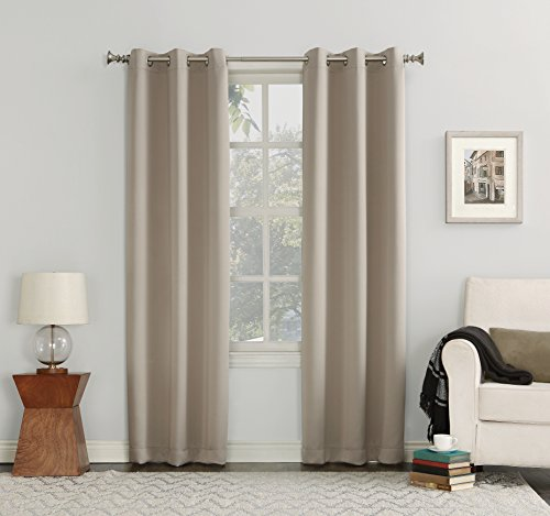 Sun Zero Easton Blackout Energy Efficient Curtain Panel  40  X 84   Stone