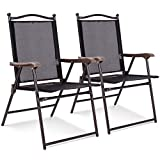 Giantex 2 Folding Sling Back Chairs Indoor Outdoor Camping Chairs