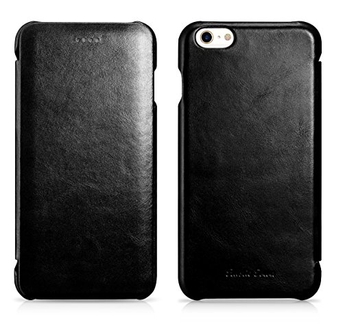 - Rustic Town iPhone 6S Leather Case - Genuine Leather iPhone 6 Case - Vintage Folding Flip Case - Shockproof Slim Fit Cover for Apple iPhone 6S / iPhone 6 4.7 Inch