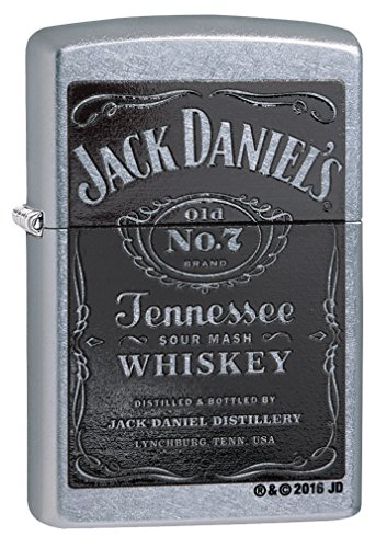 Zippo Jack Daniel's Tennessee Whiskey Label Pocket Lighter,
