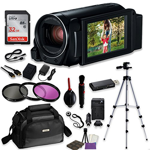Canon VIXIA HF R82 Camcorder Video Professional Bundle with
