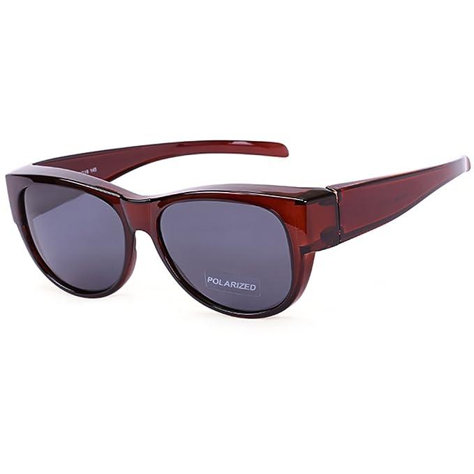 De gran tamaño se adapta a las gafas de sol Lente polarizada espejada para mujeres y