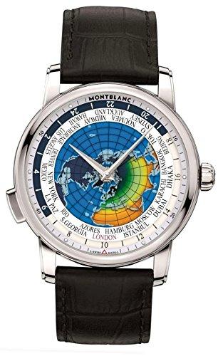 Montblanc Reloj Analógico para Hombre de Cuarzo con Correa en Cuero 115071: Amazon.es: Relojes