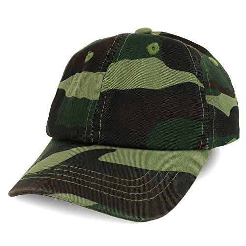 Trendy Apparel Shop Baby Infant Plain Unstructured Adjustable Baseball Cap - CAMO