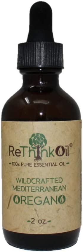 ReThinkOil 2 oz Oregano – 100 Pure Essential Oil – Food Grade – Wild Mediterranean Oil – GC-MS Tested for Purity Analysis Attached as Photo – Non-Standardized, Endemic, Undiluted Oil