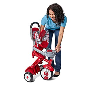 Radio Flyer Quick Fold Stroll 'N Trike Ride On, Red