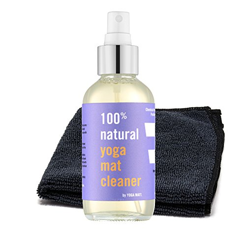 100% Natural Yoga Mat Cleaner Spray with Sacred Microfiber Towel