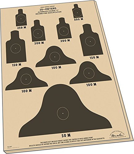 Rite in the Rain Weatherproof 25m Alt C Qualification Targets, M16A1, 17