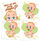 33 Funny Baby Shower Games - Diaper Raffle Tickets Emoji Scratch Off Lottery Card Game - Great for Boy & Girl Baby Shower Decorations & Supplies