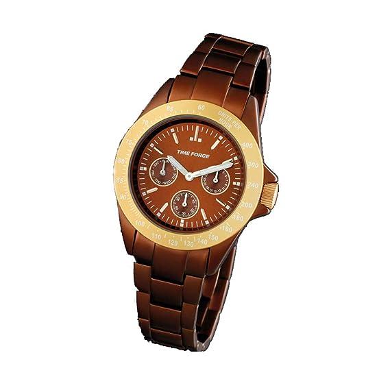 Time Force Reloj Analógico para Mujer de Cuarzo con Correa en Acero Inoxidable TF4189L14M: Amazon.es: Relojes