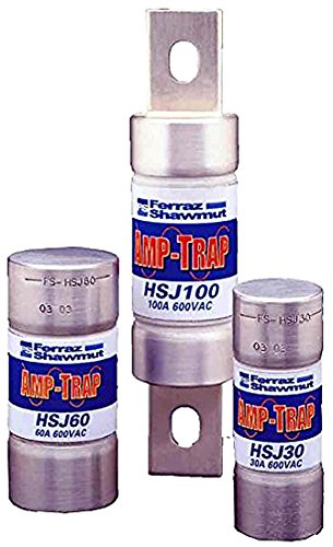 Mersen HSJ High Speed/Class J Fuse, 600VAC/500VDC, 200kA AC/100kA DC, 200 Ampere, 1-5/8'' Diameter x 5-3/4'' Length