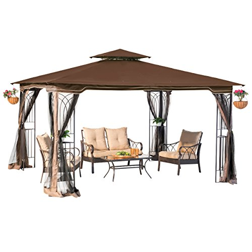 sunjoy L-GZ798PST-E Regency II Gazebo with Mosquito (Backyard Gazebo)