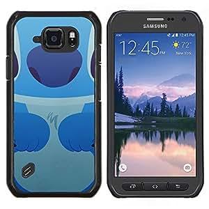 Caucho caso de Shell duro de la cubierta de accesorios de protección BY RAYDREAMMM - Samsung Galaxy S6Active Active G890A - Monstruo de dibujos animados Ratón Kid
