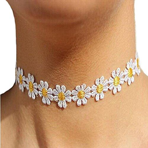 Fheaven Women Delicate Daisy Flower Choker Chain Charm Necklace Bohemia Jewelry