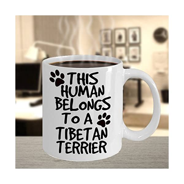 Tibetan Terrier Mug - White 11oz Ceramic Tea Coffee Cup - Perfect For Travel And Gifts 5