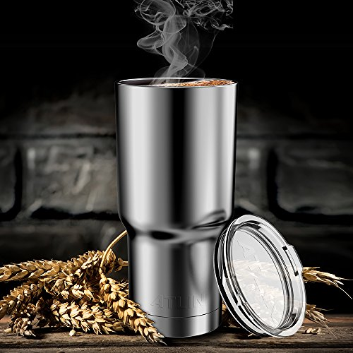 Atlin Tumbler [30 oz. Double Wall Stainless Steel Vacuum Insulation] Travel Mug [Crystal Clear Lid] Water Coffee Cup [Straw Included]For Home,Office,School - Works Great for Ice Drink, Hot Beverage by Atlin Sports (Image #6)