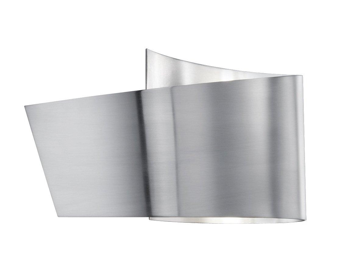 TRIO, Applique, Flesso incl. 1 x LED,SMD,2,3 Watt,3000K,230 Lm. Corps: metal, Nickel mat L:20,0cm, H:12,0cm, P:9,0cm IP44,OSRAM Inside,Montage au mur [Classe énergétique A] 282210107 282210107_Colornickelopaco