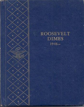 Roosevelt Dimes 1946 - 1965D (No. 9214 Whitman Empty Coin Album)