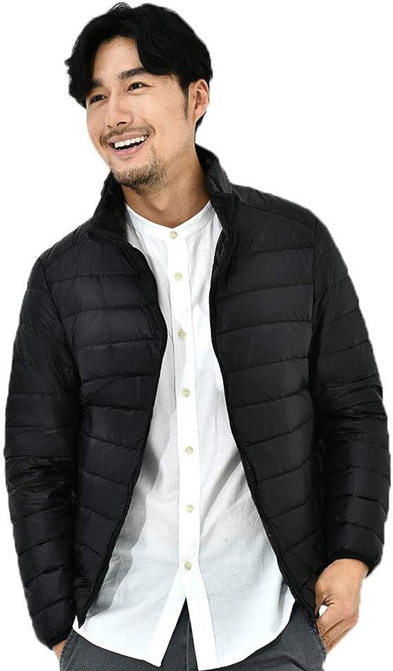 Marca Outlet Ropa Premium Abrigo De Cuello Sólido para Hombre ...