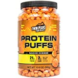 Low Carb Protein Puffs - 21g Protein, 2g Carbs, 130 Cals, Nut Free Baked High Protein Crisps, Keto Friendly, Soy Free, Gluten Free, Potato Free - Best Protein Snack (Nacho Cheese, 300g/10 Servings)
