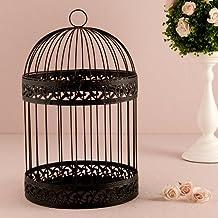 Classic Round Decorative Birdcage in Black