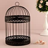 Classic Round Decorative Birdcage in Black