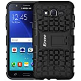 J7 Case, Galaxy J7 Case, Epxee TOUGH Protective Heavy Duty Hard Antislip Shock Absorbent TPU Dual Layer Case Cover for Samsung Galaxy J7 with Built-in Kickstand (Black)