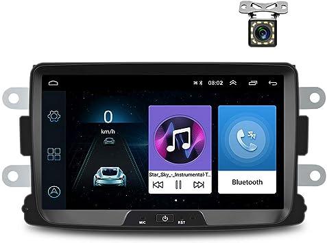 Radio de Coche Android para Renault Dacia GPS CAMECHO Pantalla Táctil Capacitiva de 8 Pulgadas Reproductor Estéreo de Coche WiFi Bluetooth FM USB Dual ...