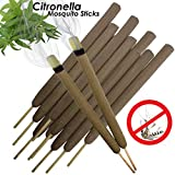 W4W Citronella Mosquito Repellent Sticks Extra-Thick - Outdoor Use Reaches Up to 10-12 feet - Each Stick Burns for 3-5 Hours (3 Pack Contains 15 Repellents)