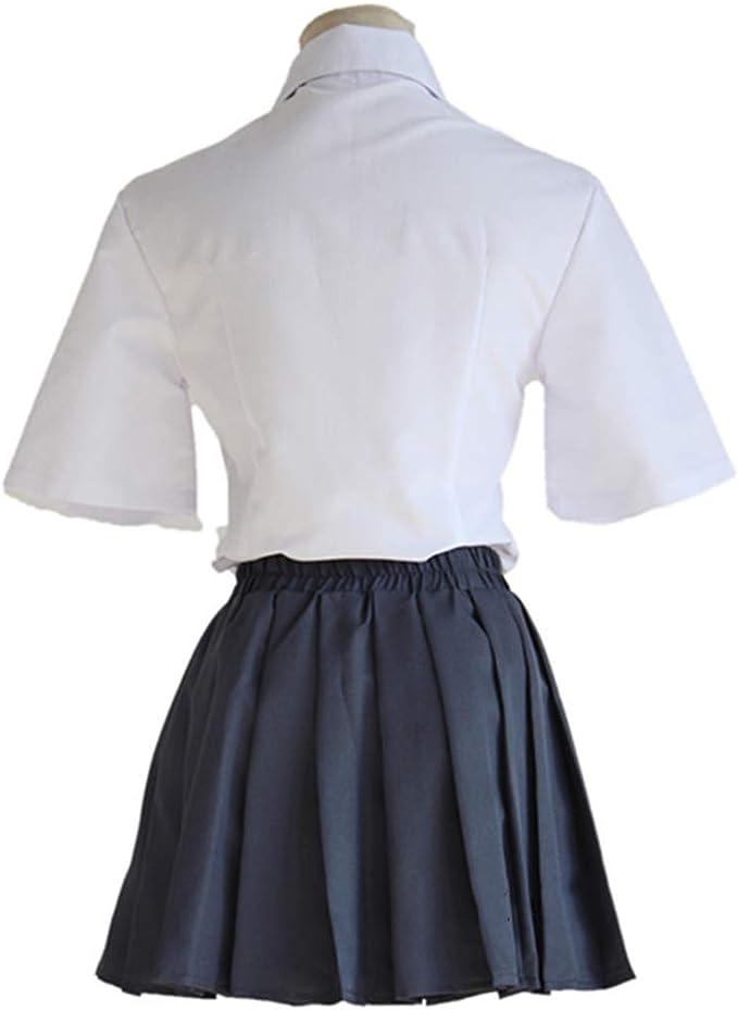YKJ Camisa Blanca de Anime y Falda Negra Traje de Cosplay Uniforme ...