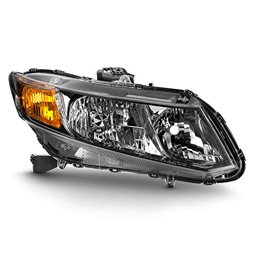 ACANII - For 2013-2015 Honda Civic Sedan 13 Coupe [Factory Style] Headlight Headlamp Replacement Right Passenger Side