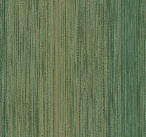 - Threaded Stripe Wallpaper in Moss KT90004 from Wallquest