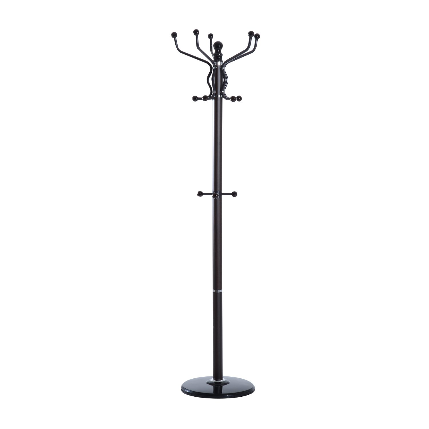 Homcom Contemporary Metal Solid Rotating Coat Rack Hat Jacket Stand