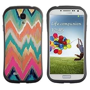 "Hypernova Slim Fit Dual Barniz Protector Caso Case Funda Para SAMSUNG Galaxy S4 IV / i9500 / i9515 / i9505G / SGH-i337 [Paint modelo del oro Rosa de la acuarela""]"