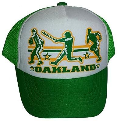 Toddler Kid's Oakland Baseball Snapback Mesh Trucker Hat Cap